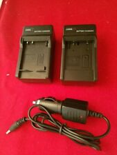 2 Battery charger car charger wall travel charger for Sony NP-BG1 NP-FG1 battery