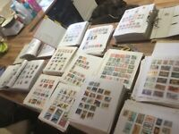 World Stamps on Loose Pages 20x well populated Ex-Dealers stock