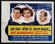 MR BLANDINGS BUILDS HIS DREAM HOUSE CARY GRANT MYRNA LOY 1948 HALF-SHEET STYLE B