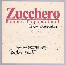 ZUCCHERO SUGAR FORNACIARI DINDONDIO CD SINGOLO cds PROMO