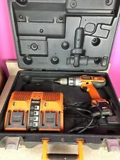 """Drill-Driver Rigid 1/2"""" X2  Power Tool Battery Charger Carry Case Cordless"""