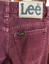 24X31 true Vtg 80s Boys LEE RUSTY CORDS BOOTCUT FLARE DENIM HIPPY JEANS USA