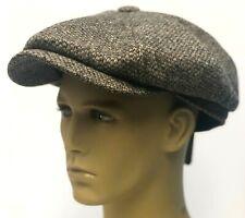 Peaky Blinders Hat Newsboy Gatsby Cap Grey Flat Baker Boy Bakerboy 100% Wool