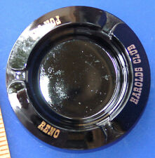 VTG HAROLDS CLUB FOR FUN Black Advertising ASHTRAY RENO NV LA's Vegas Gambling