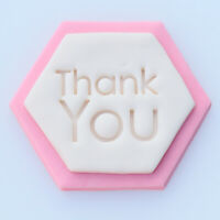 Thank You Cookie Fondant Stamp Embosser 8.2 cm Cookie Cutter Cake Decoration