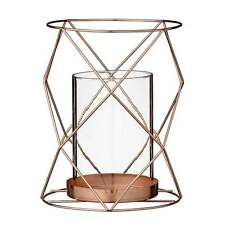 Bloomingville Windlicht Teelichthalter Metall Gitter Zylinder, 16 cm kupfer