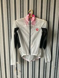 Castelli Womens Lightweight jacket cycling white Windbreaker size XS