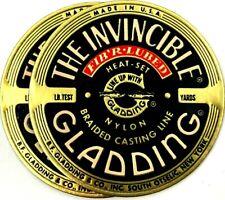 Vintage Label - The Invinsible Gladding Fib'R Lubed Nylon Braided Casting Line