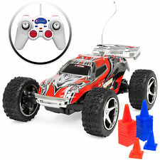 1/32 Scale 30km/h RC High Speed Mini Racing Toy Car w/ Rechargeable Battery-Red