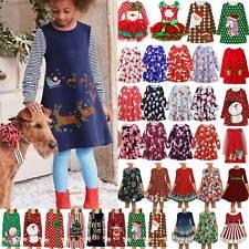 Kids Girls Christmas Princess Dress Long Sleeve Nightdress Formal Tunic Dresses