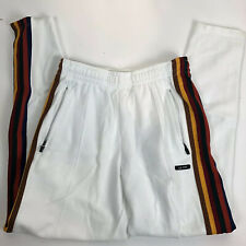 Le Fix C6 Tape white Rasta Red Green Yellow Stripe Track Pants Mens Size M