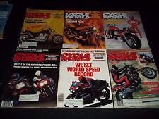 1985-1986 CYCLE WORLD MAGAZINE LOT OF 14 ISSUES - CARS AUTOMOBILES ADS - M 463