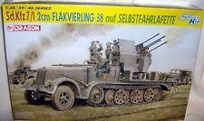 dragon 1/35 GERMAN SdKfz 7/1 HALFTRACK & FLAK 38 AA GUN