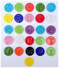 26 - 25mm Handmade Ceramic Mosaic Circle Letter Tiles - The Entire Alphabet