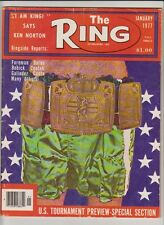 THE RING MAGAZINE CHAMPIONSHIP BELT COVER JANUARY 1977