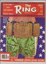 THE RING MAGAZINE CHAMPIONSHIP BELT COVER JANUARY 1977
