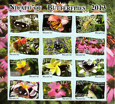 More details for niuafo'ou 2012 mnh butterfly & flower definitive part 2 12 m/s butterflies