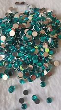 150pcs x 4mm turquoise flatback gems * UK SELLER *