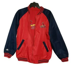 Majestic St. Louis Cardinals Jacket Youth Kids 14-16 Reversible Lined...