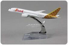 Solid INDONESIA Batik BOEING 787 Passenger Airplane Plane Metal Diecast Model