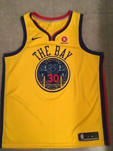 Stephen Curry GSW Warriors Nike Authentic Swingman City Edition Jersey 52 NWOT
