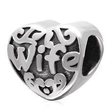 Wife Charm Bead 925 Sterling Silver