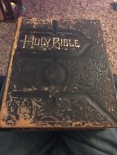 Holy Bible Antique vintage leather Edgewood Publishing c. 1881  NO WRITING!