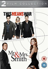 DVD:THIS MEANS WAR / MR AND MRS SMITH - NEW Region 2 UK