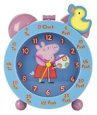 Peppa Pig temps Teacher Horloge Rose