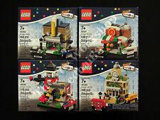 LEGO Bricktober 2014 Set of 4 Mini Modulars 40180 40181 40182 40183, New