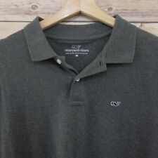 Vineyard Vines  Mens Golf Polo Shirt Size M Short Sleeve gray