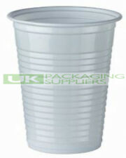 2000 SMALL 7oz 190ml WHITE PLASTIC DISPOSABLE CUPS GLASSES PARTY WATER DISPENSER