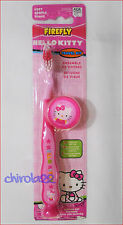 HELLO KITTY FIREFLY SOFT TOOTHBRUSH WITH CAP AND SUCTION CUP GIRLS KIDS NEW
