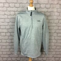 UNDER ARMOUR MENS UK L 1/4 ZIP COLDGEAR LONG SLEEVE TOP PULLOVER GYM ACTIVE