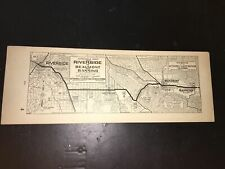 Vintage Automobile Club of Southern California 1930's Riverside Strip Map