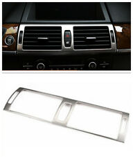 Steel Middle console air condition vent cover trim For BMW X5 E70 2007 - 2013