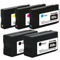 5PK HP New Gen 950 XL 951 XL High Yield Ink for Officejet Pro 8600 Plus Premium