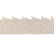 House of Cake Edible Floral Lace Decoration Ready Made Trim PEARL 380 x 75mm