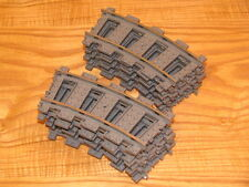 48 pieces Lego 4520 9v curve train tracks lot, quantity 48x, dark gray, lot 1