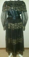 Amazing Vintage N.R.1 by Ned Gould Metallic Black & Gold Formal Top-Skirt Set