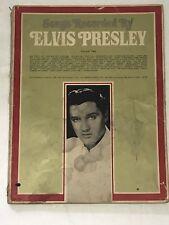 ELVIS PRESLEY SONGS RECORDED BY ELVIS VOLUME 2 SONG BOOK SHEET MUSIC