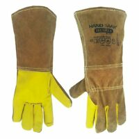 HandMax Multi-faceted Cow Leather Gloves - Welding, fire, heat, Animal Handling