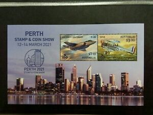 2021 Perth Stamp And Coin Show Minisheet