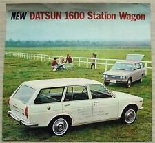 DATSUN 1600 STATION WAGON LF Car Sales Brochure c1969 #PE 691-801109
