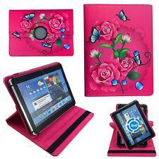 Rosen Blumen Pinke Tablet Tasche für 10 Zoll Samsung Galaxy Tab A6 SM-T580 Hülle