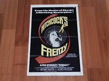 ORIGINAL MOVIE POSTER HITCHCOCK'S FRENZY 1972 INTERNATIONAL ONE SHEET