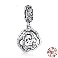 Rose Shimmering Mother Mum  S925 Sterling Silver Charm For European Bracelet