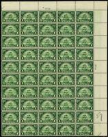 614, VF Mint NH Top PL# Sheet of 50 1¢ Stamps Brookman $375.00 -- Stuart Katz