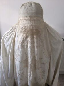 Antique Exquisite Hand Sewn Embroidered  Old Traditional Full Burka Footed Pants