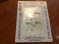 N SCALE MICROSCALE DECALS 60-4331 STONE CONTAINER CORPORATION TRACTORS TRAILERS
